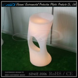 PET materieller geleuchteter moderner bunter LED Stab-Stuhl des neuen Produkt-
