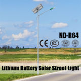 6m Light Pool 12V 30~80ah Lithium Battery Solar Street Light met 30~120W LED Light