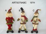 De Gift -3asst van Kerstmis van de Sneeuwman van de Kerstman van hoge zijden