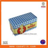Doos van het Tin van de Gift van het Metaal van de douane de Rechthoekige Verpakkende, het Blik van het Tin van de Gift