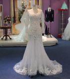 La misura e l'indicatore luminoso lungo del manicotto del chiarore vedono attraverso il vestito da cerimonia nuziale con i Appliques