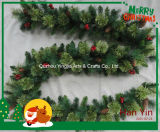 Festão do Natal do abeto para a decoração do partido