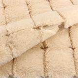 Poliestere 100% del blocco del tessuto di lana della mano protettiva delle donne