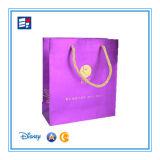Sac de papier de cadeau pour le livre/vêtement/bijou/électronique de empaquetage