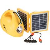 Lanterna di campeggio ricaricabile solare portatile del LED con la radio e la torcia