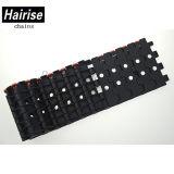 Black ISO Flat Top Limited-Tablette-modulares Plastikförderband