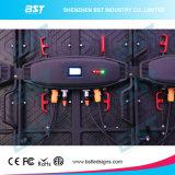 P3.91 P4.81 P5.95 P6.25 500 x 1000mm 옥외 임대 단계 LED 영상 벽 스크린 높은 정의