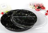 Круглый флористический напечатанный поднос суш верхней ранга устранимый пластичный (S65R)