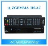 Cananda/México/América canalizam afinadores gêmeos Zgemma H5 da caixa DVB-S2+ATSC Hevc/H. 265 do receptor da televisão satélite de Digitas. C.A.