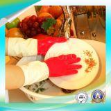 Анти- кисловочные перчатки чистки латекса с ISO9001 одобрили