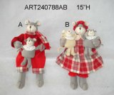"8 "" H Christmas Decoration Foams Couple Babies-2asst Holding"