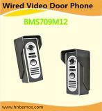 Interphone visuel de sonnette de téléphone de porte de 7 pouces avec 1-Camera 2-Monitors