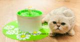Fontana di acqua elettronica automatica dell'animale domestico di stile del fiore degli animali domestici, bevitore dell'animale domestico
