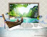 El panel ULTRAVIOLETA del paisaje de la piedra de la naturaleza del barco de navegación para la decoración casera
