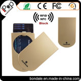 Uso do cartão de crédito e suporte de cartão de alumínio do crédito do material plástico