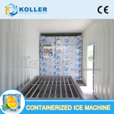 De kleine Machine van het Blok van het Ijs van de Capaciteit 1000kg/Day Containerized Geschikt voor zich het Bewegen