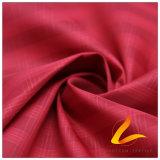agua de 50d 350t y de la ropa de deportes tela tejida chaqueta al aire libre Viento-Resistente 100% de la pongis del poliester del telar jacquar de la tela cruzada abajo (53257A)