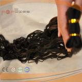 100% cabelo humano Remy Hair Weaving, cabelo ondulado, cabelo Exntension