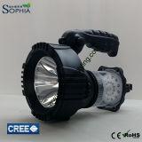 새로운 5W 크리 사람 LED 자기방위 손 램프 2 광도