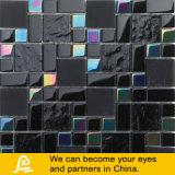 Mosaico de cristal negro con el tratamiento superficial brillante para la pared