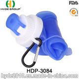 750ml Squeeze Plastic Running Water Garrafa, Silicone Plastic Sport Water Garrafa (HDP-3084)