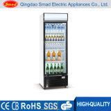 상업적인 전시 냉장고 진열장, 유리제 문 냉장고