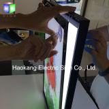 Placa de alumínio do menu da caixa leve do diodo emissor de luz do perfil