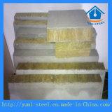 Installation de chaleur et de bruit Panneau sandwich en laine de roche avec niveau ignifuge A1