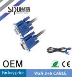 Sipu Großhandelsweibchen 15pin zum männlichen VGA-Kabel für Computer