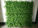 Plantas césped artificial verde vertical Panel de pared decoración de la caída