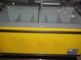 Замораживатель зернокомбайна двери комода супермаркета стеклянный