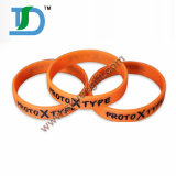 Wristband 100% barato requintado do silicone dos braceletes do silicone do costume