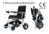 """12 """" 세륨 증명서를 가진 뒷 바퀴 E 왕위 Foldable 경량 전자 휠체어"""