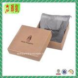 Custome druckte steifen Papiergeschenk-Kasten mit Blatt-Kappe