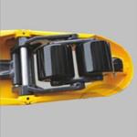 3ton Vrachtwagen van de Pallet van de hand de Hydraulische met Wielen Nylon/PU
