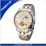 人の方法ステンレス鋼の腕時計のための多機能の水晶腕時計