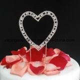 Cappello a cilindro della torta di cerimonia nuziale del cuore del Rhinestone dell'annata singolo