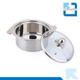 2016新しいデザイン倍はステンレス鋼の食糧ウォーマーの小型熱い鍋を扱う
