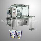Máquina de rellenar echada en chorro cara automática de la bolsa derecha para la leche