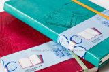 Cuaderno de cuero de la PU Moleskine de la alta calidad A5 con la insignia de Debossed