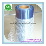 Film rigide de PVC de teinte bleue d'espace libre d'épaisseur de 500 Mircon