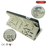 PU de cuero de la cubierta de la PC Flip Holder Case tarjeta ranura