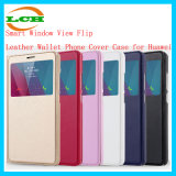 Intelligentes Window View Flip Leather Wallet Phone Cover Fall für Huawei