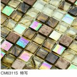Azulejo de suelo de cristal ambarino de mosaico