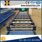 Kxd 840 galvaniza el azulejo esmaltado el material para techos de acero del metal que forma la maquinaria