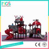 De commerciële Speelplaats van de Apparatuur van de Dia van Jonge geitjes Plastic Openlucht (HS02401)