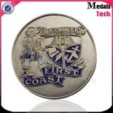 高品質の習慣私達挑戦金属のニッケルによってめっきされる記念品の硬貨