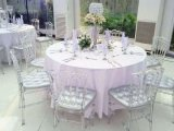 Resin Plastic Crystal Clear Chiavari Tiffany for Chair Wedding Events