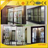 Perfil de aluminio de aluminio modificado para requisitos particulares de la puerta deslizante para la vida de interior/al aire libre