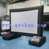 Écran de film noir gonflable utilisé par film publicitaire/projection gonflable d'écran de film pour l'événement extérieur